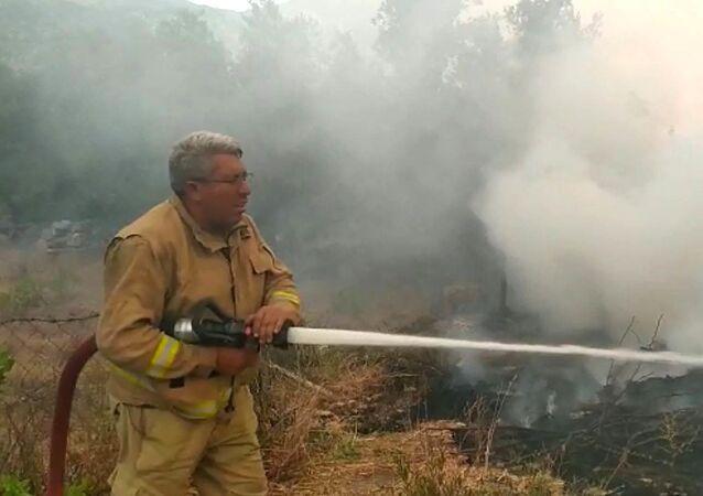Antalya'nın Manavgat ilçesindeki orman yangınını söndürme çalışmaları sırasında arazözde hayatını kaybeden 2 orman işçisinden Yaşar Cinbaş
