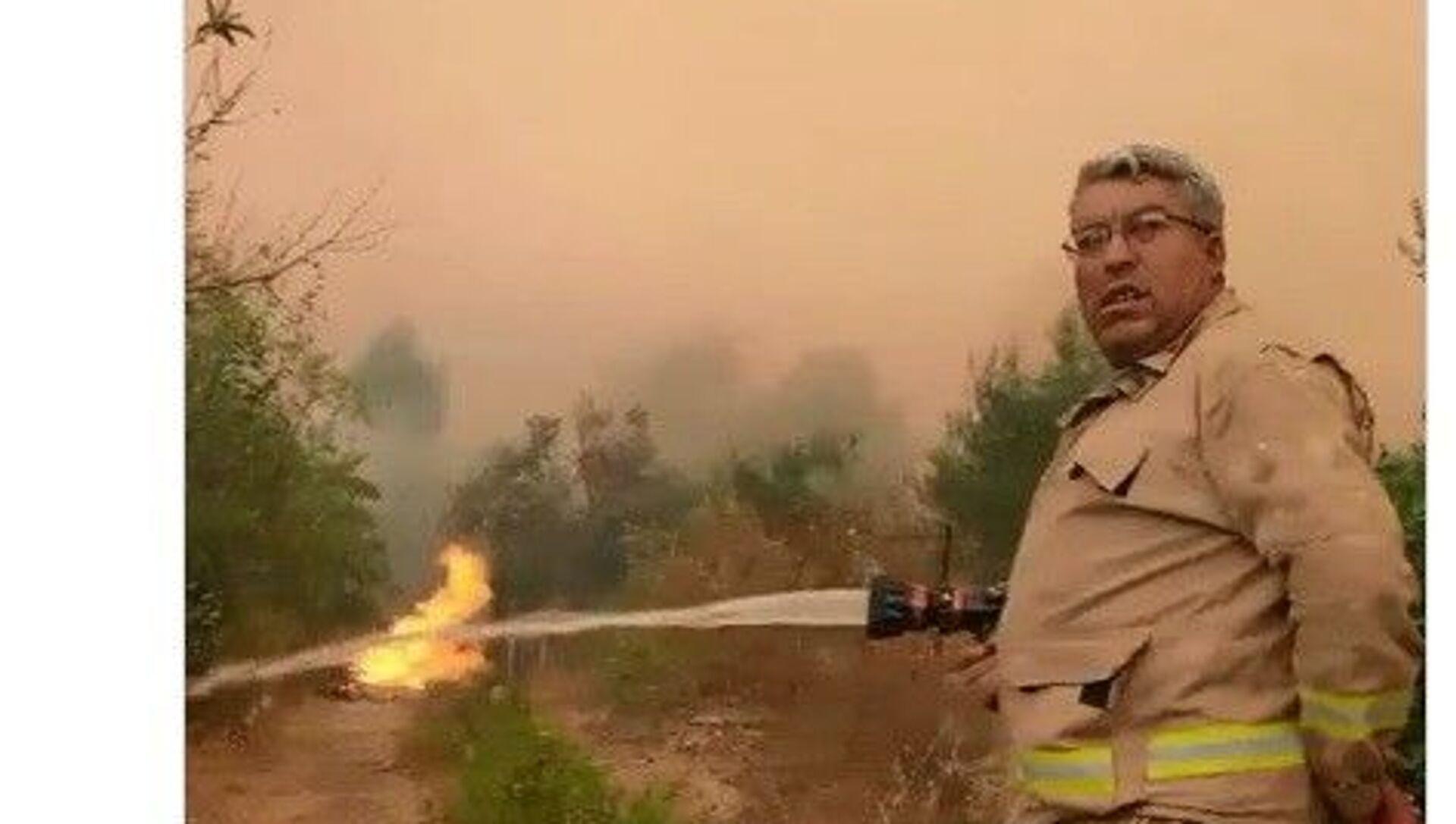 Orman Genel Müdürlüğü, Antalya Manavgat'ın ilçesindeki orman yangınını söndürme çalışmaları sırasında şehit olan orman işçisi Yaşar Cinbaş'ın son görüntülerini paylaştı. - Sputnik Türkiye, 1920, 01.08.2021