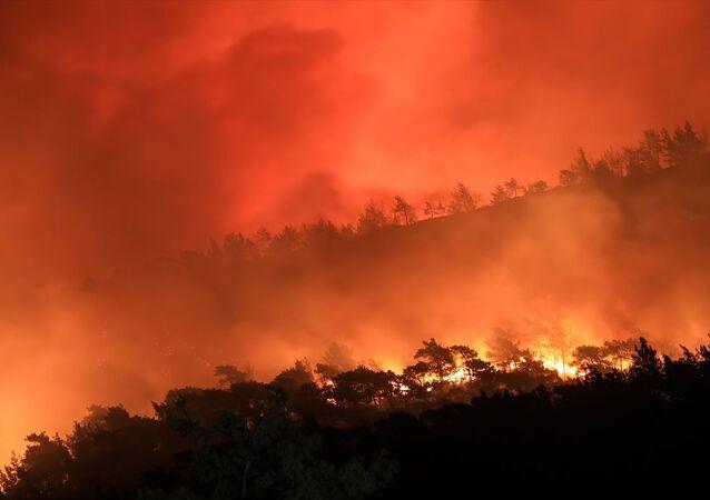 Yangın-Türkiye-gece