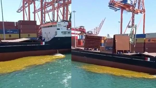 Mersin'de denize paslı su boşaltıldı - Sputnik Türkiye