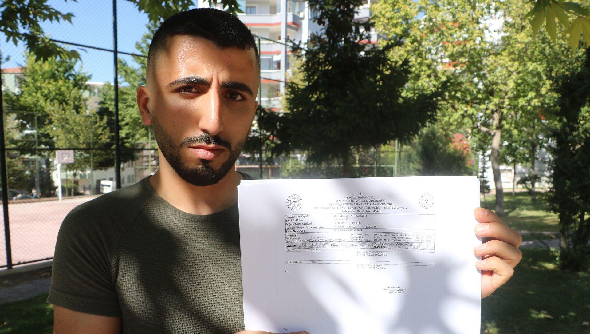 Malatya'da özel bir ilaç firmasında dağıtım görevlisi olarak çalışan 25 yaşındaki Mehmet Cihat Bozkurt - Sputnik Türkiye, 1920, 02.08.2021