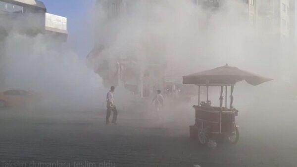 Taksim Meydanı dumanlara teslim oldu - Sputnik Türkiye