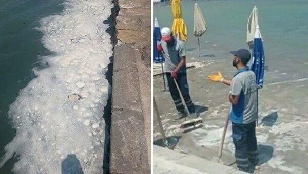 Datça sahilinde tedirgin eden görüntü - Sputnik Türkiye