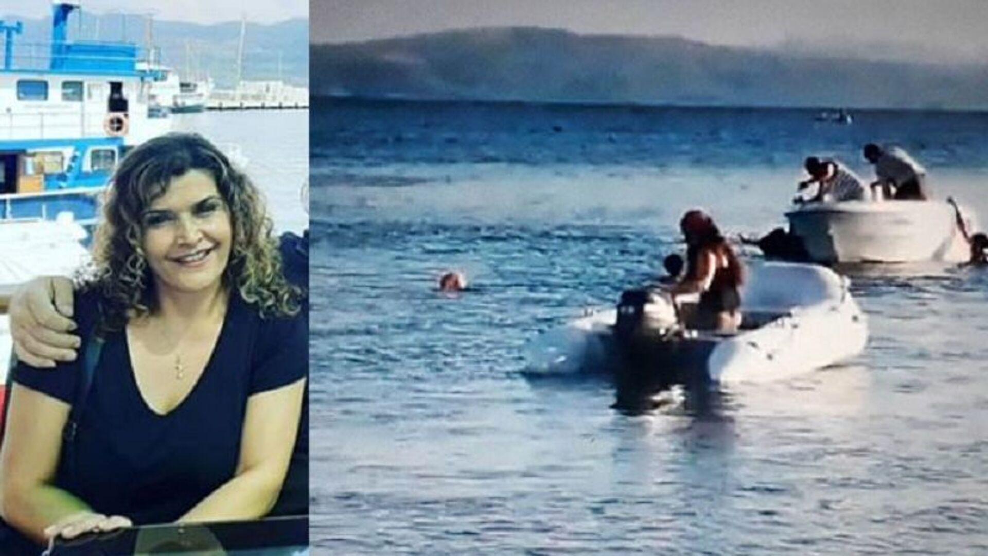 Denizde yüzerken sürat teknesinin çarptığı kadın Elvan Fırat Taşdöğen - Sputnik Türkiye, 1920, 12.08.2021