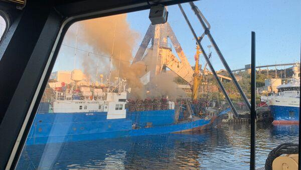 Norveç'te Rus balıkçı gemisinde yangın - Sputnik Türkiye