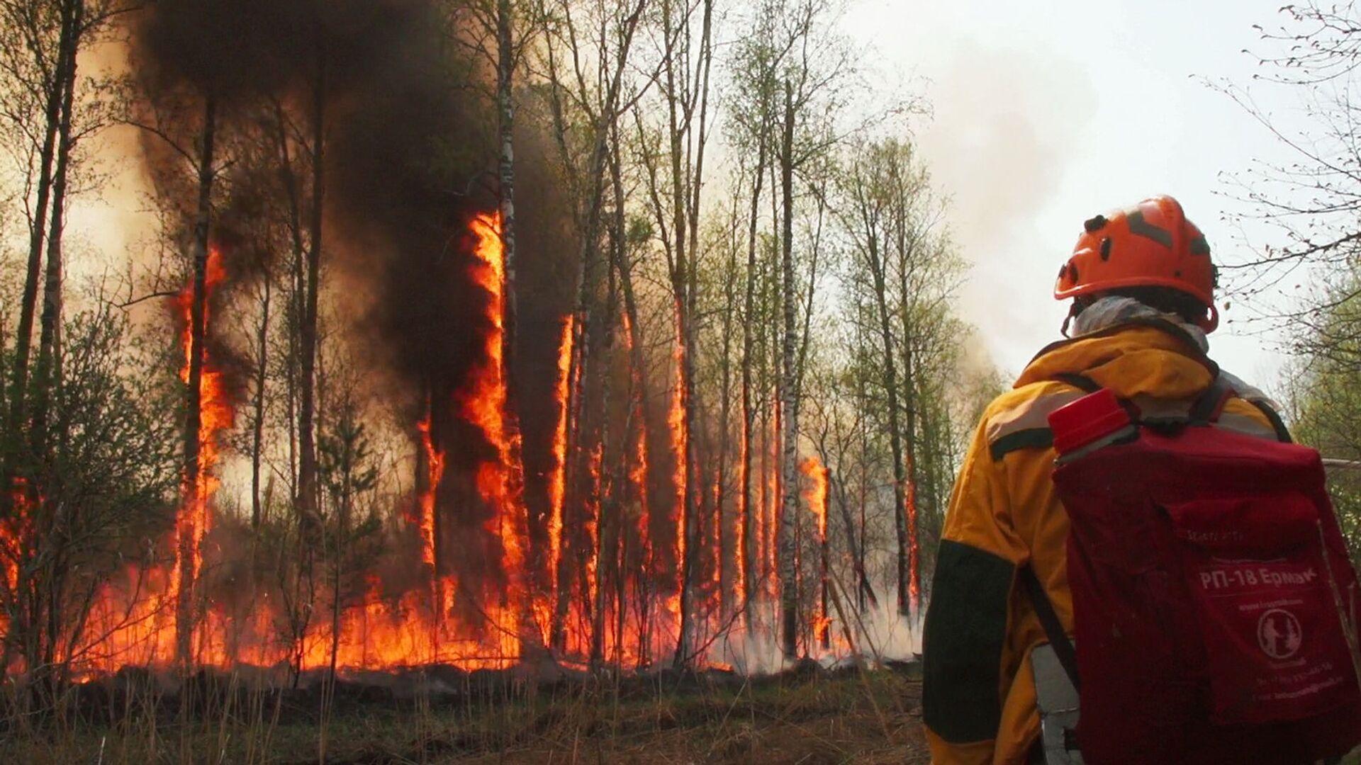Yakutistan'da acil durum ilan edildi: Orman yangınları yerleşim yerlerine sıçradı - Sputnik Türkiye, 1920, 09.08.2021