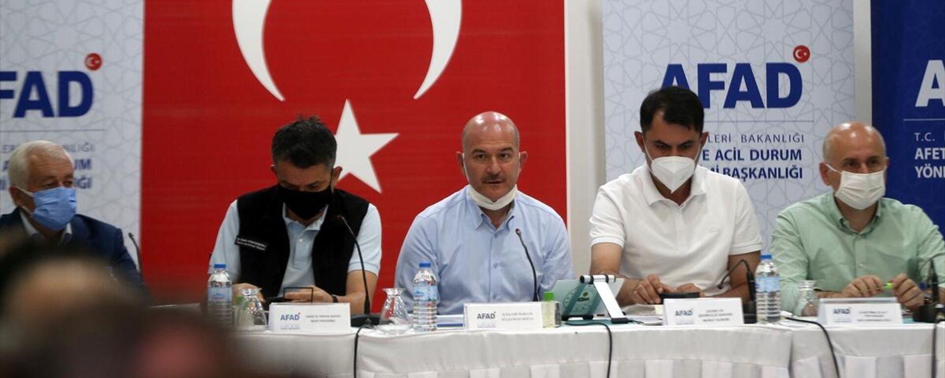 Süleyman Soylu, Murat Kurum, Adil Karaismailoğlu, Bekir Pakdemirli - Sputnik Türkiye, 1920, 19.08.2021
