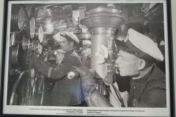 'Denizaltılar, Odesa kıyılarında Alman gemilerini takip ediyor' adlı bir fotoğraf.  - Sputnik Türkiye