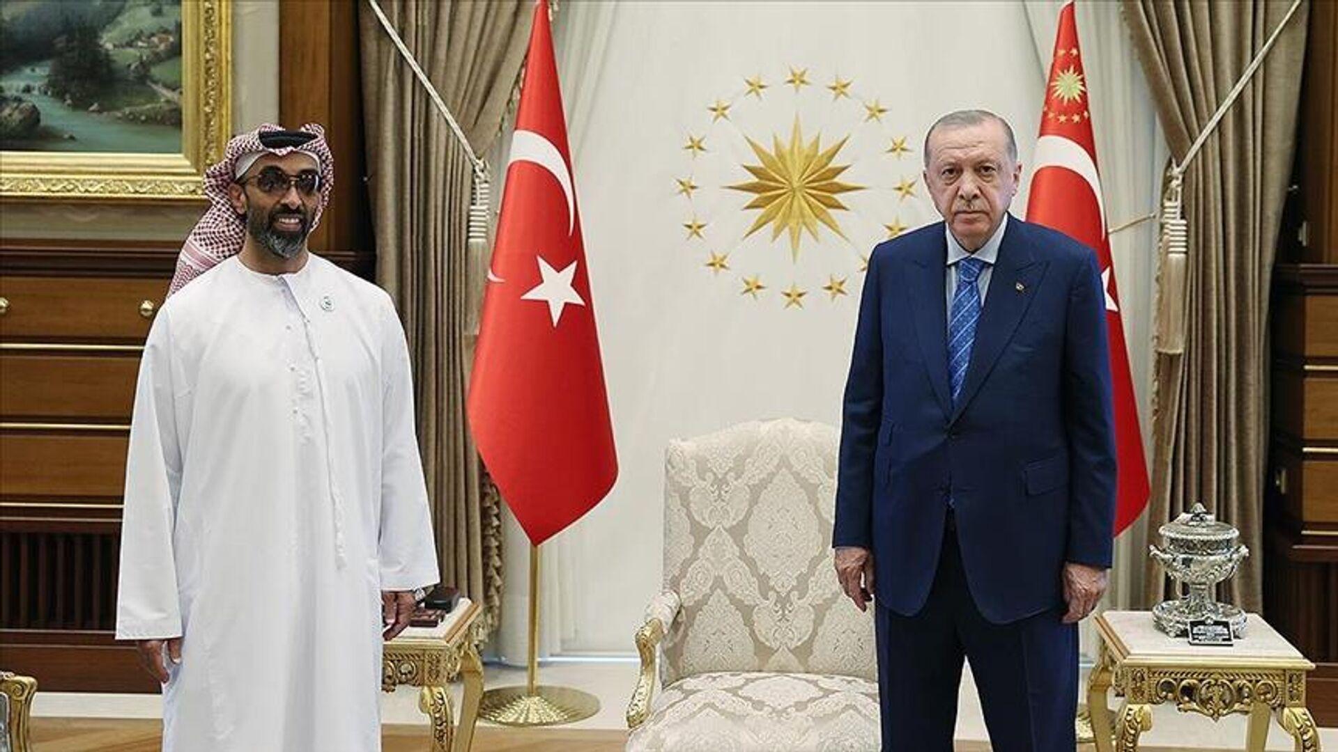 Cumhurbaşkanı Erdoğan, BAE Ulusal Güvenlik Danışmanını kabul etti  - Sputnik Türkiye, 1920, 31.08.2021