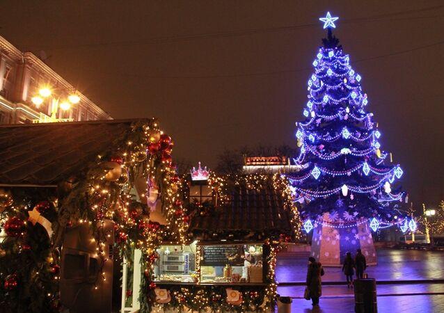 Moskova'da Yılbaşı ağacı