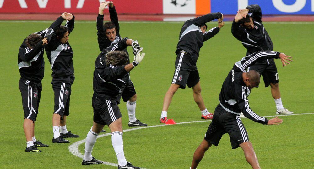Beşiktaş futbol külübü. Moskova'da antremanlar