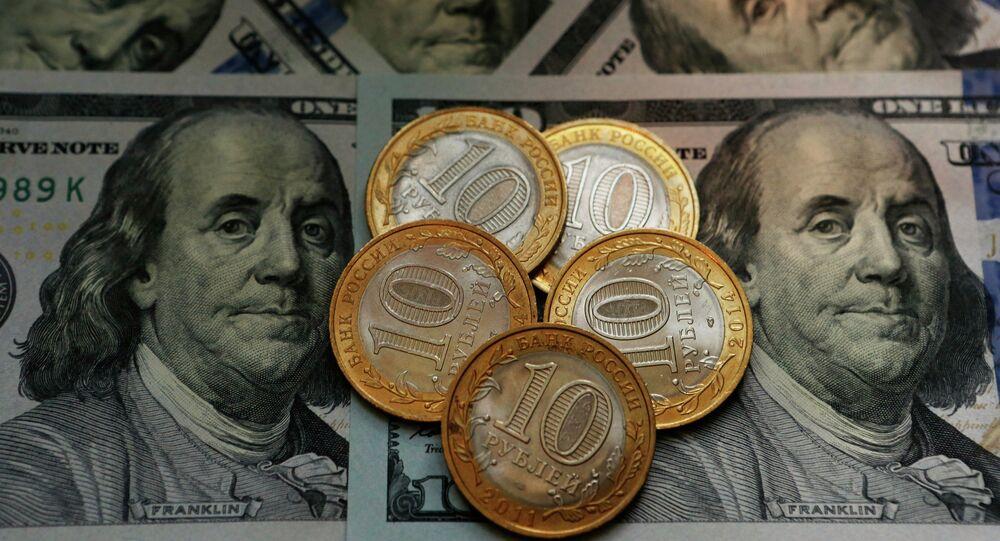 Dollar ve Ruble. Para