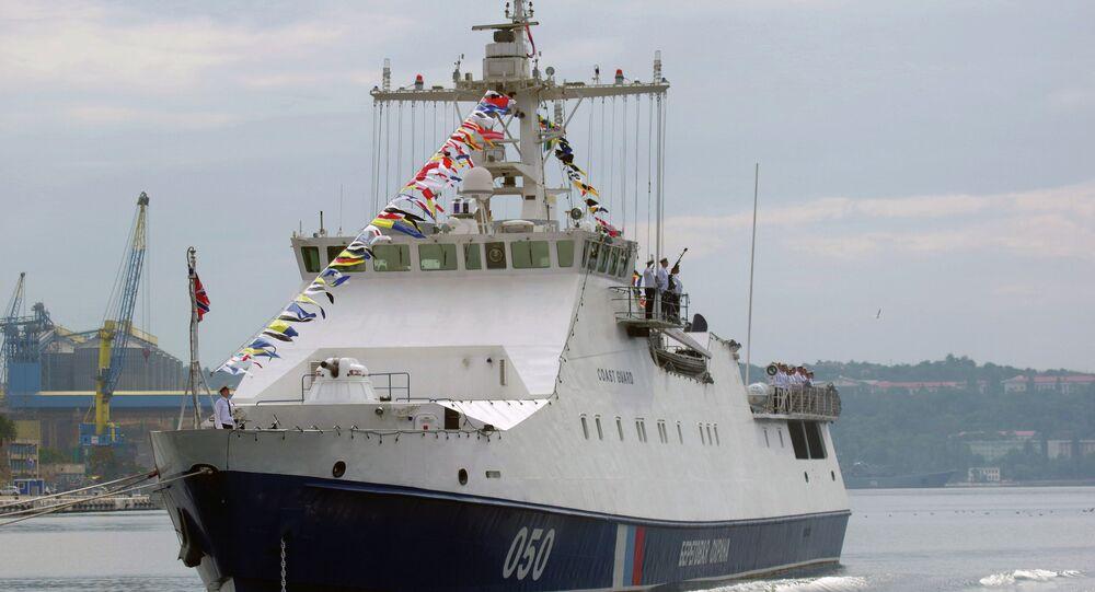 Sivastopol'da bir gemi