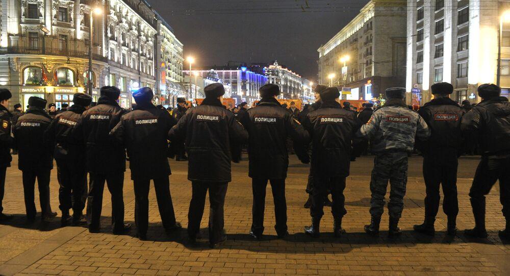 Moskova'daki polis.