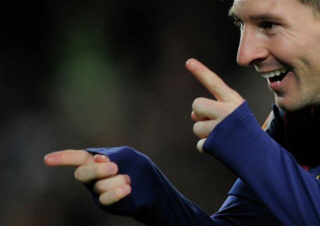 Barcelona'nın Arjantinli golcüsü Lionel Messi