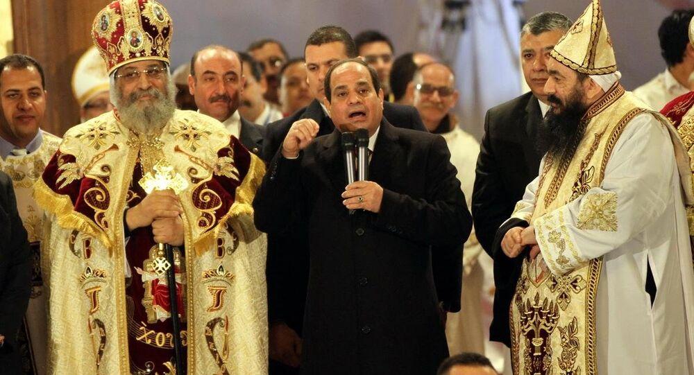 Mısır Cumhurbaşkanı Abdulfettah El Sisi ve Kıpti Ortodoks Cemaati Patriği 2. Tovadros