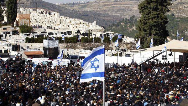 Paris'te 9 Ocak'ta bir koşer marketine düzenlenen terörist saldırıda hayatını kaybeden 4 Yahudi'nin cenazesi Kudüs'te toprağa verildi. - Sputnik Türkiye