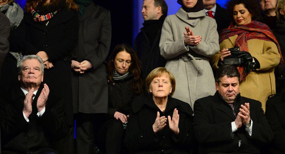 Berlin'de dayanışma gösterisi