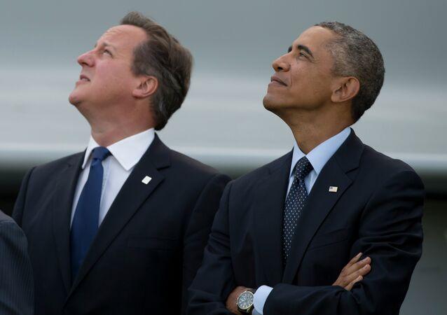 ABD Başkanı Barack Obama ve İngiltere Başbakanı David Cameron