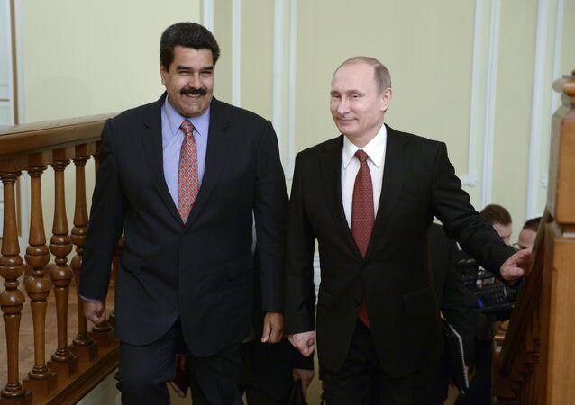 Rusya Devlet Başkanı Vladimir Putin ve Venezuella Devlet Başkanı Nikolas Maduro