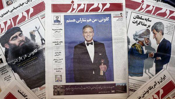 İran'da Charlie Hebdo karikatürlerini yayınlayan gazete kapatıldı - Sputnik Türkiye