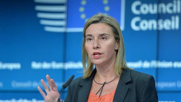 Avrupa Birliği Güvenlik ve Dış Politika Yüksek Temsilcisi Federica Mogherini - Sputnik Türkiye