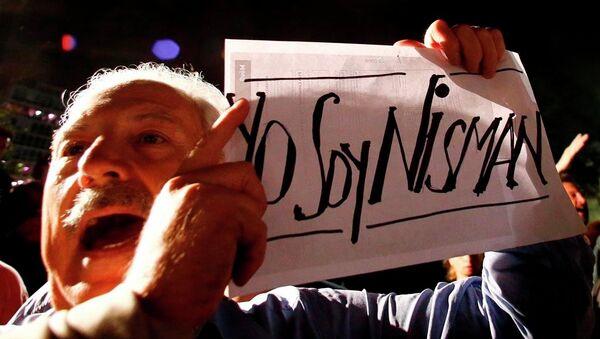 Arjantin'de Alberto Nisman protestosu - Sputnik Türkiye