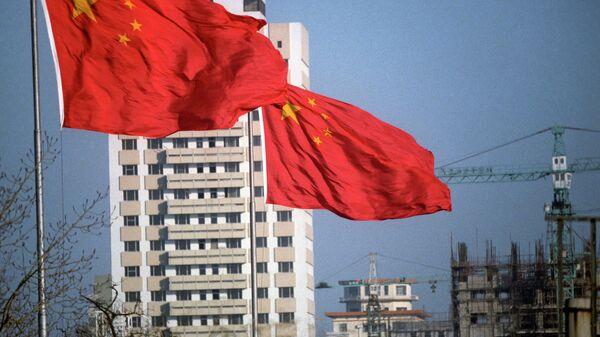 Pekin'de Çin bayrağı - Sputnik Türkiye