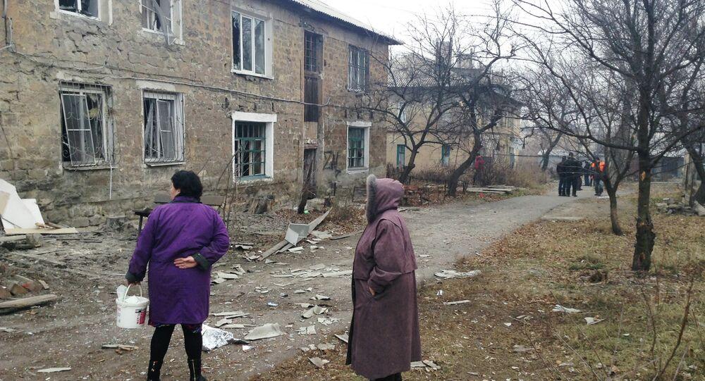 Top saldırısı sonrası Donetsk