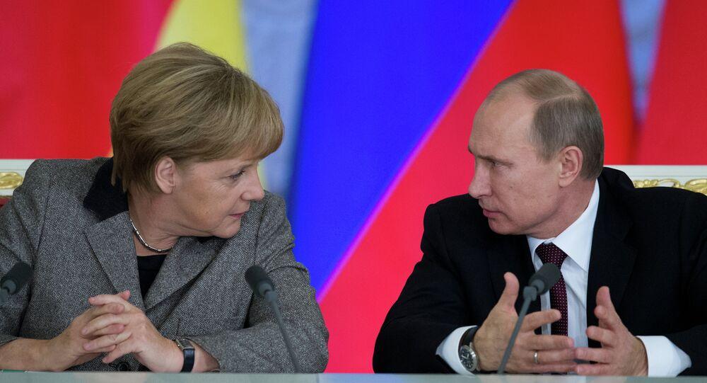 Rusya Devlet Başkanı Vladimir Putin, Almanya Başbakanı Angela Merkel