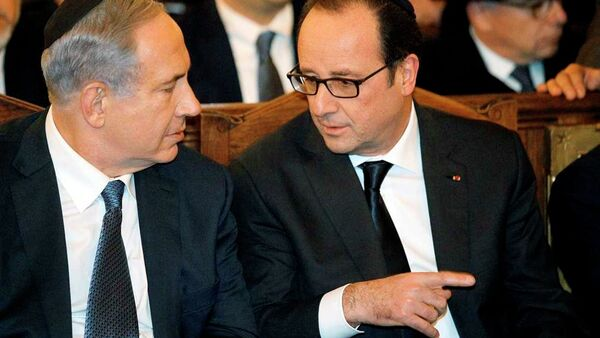 Fransa Cumhurbaşkanı Hollande-İsrail Başbakanı Netanyahu - Sputnik Türkiye