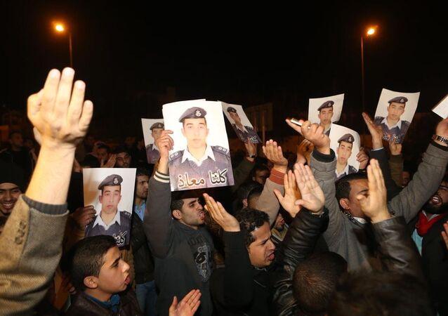 Ürdün'de IŞİD'in esir aldığı pilota destek gösterisi