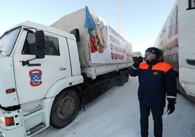 Rusya'dan Ukrayna'ya insani yardım konvoyu