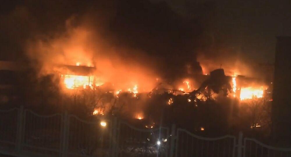 Moskova'da yangın