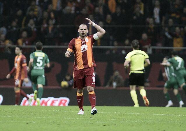 Galatasaraylı oyuncu Wesley Sneijder