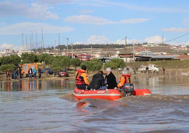 Edirne'de nehirler taştı