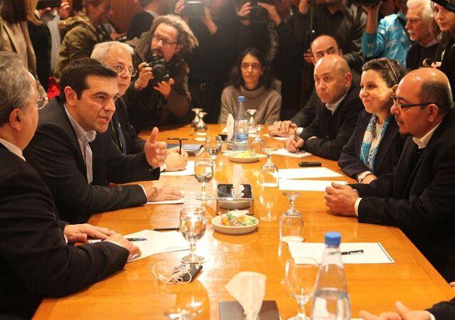 Yunanistan Başbakanı Aleksis Çipras Güney Kıbrıs'ta