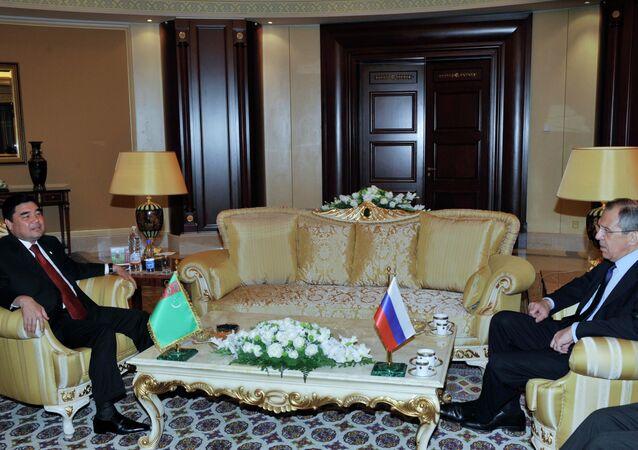 Rusya Dışişleri Bakanı Sergey Lavrov, Türkmenistan Devlet Başkanı Gurbanguli Berdimuhammedov