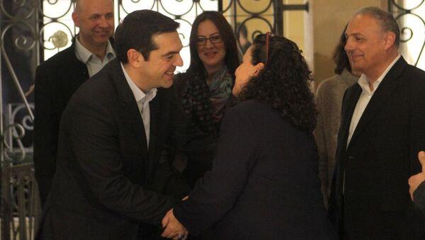 Yunanistan Başbakanı Çipras, Kıbrıslı politikacılarla buluştu - Sputnik Türkiye