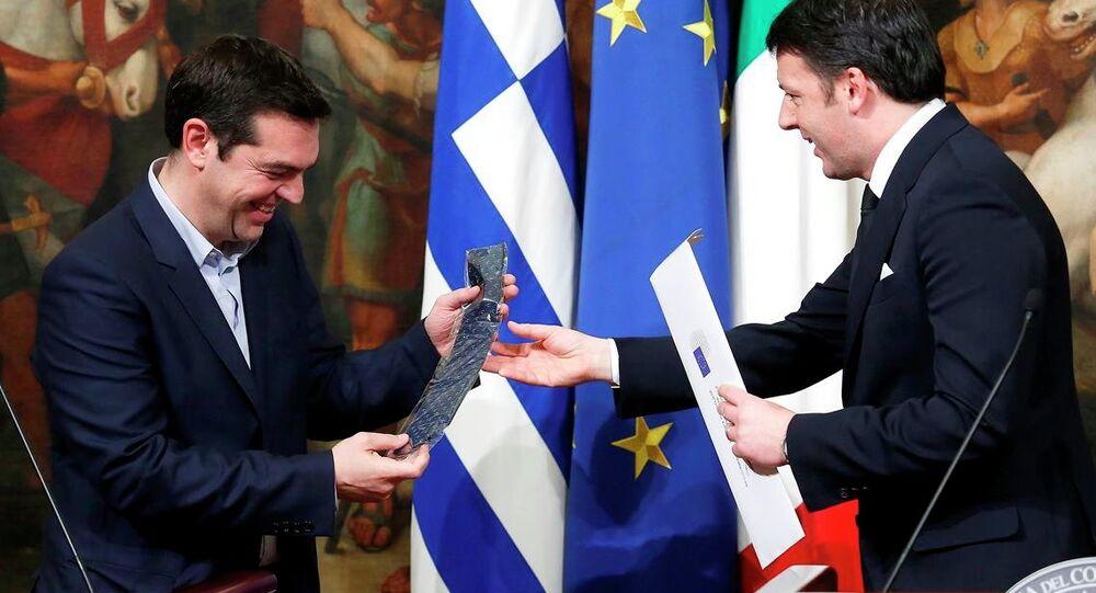 Yunanistan Başbakanı Aleksis Çipras'ın Roma ziyareti