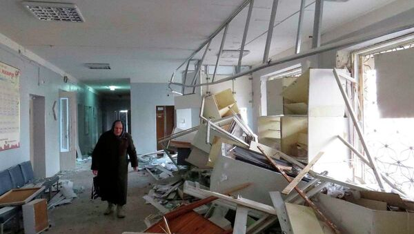 Donetsk'te hastane topçu ateşinin hedefi oldu - Sputnik Türkiye
