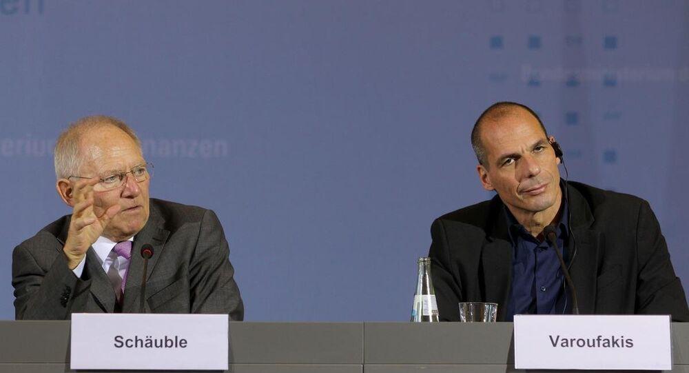 Yunanistan Maliye Bakanı Yanis Varufakis, Almanya Maliye Bakanı Wolgang Schaeuble