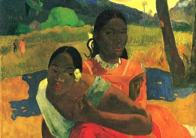 Gauguin'in 'Nafea Faa Ipoipo' (Ne Zaman Evleneceksin?) yağlı boya tablosu