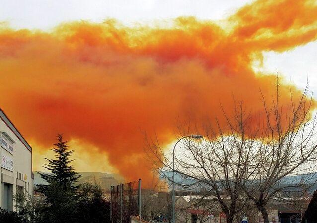 İspanya'da gaz bulutu