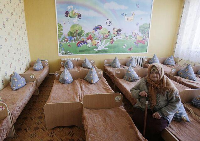 Lugansk, çocuk yuvası, havan topu mermisi