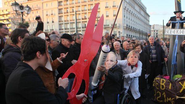 Yunanistan'da Çipras'a destek gösterileri - Sputnik Türkiye