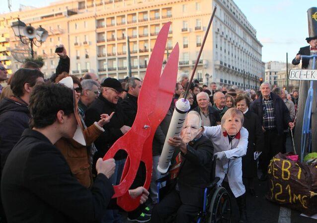 Yunanistan'da Çipras'a destek gösterileri