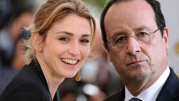 Fransa Cumhurbaşkanı François Hollande ve oyuncu sevgilisi Julie Gayet - Sputnik Türkiye