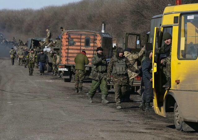 Ukrayna askeri birlikler Debaltsevo