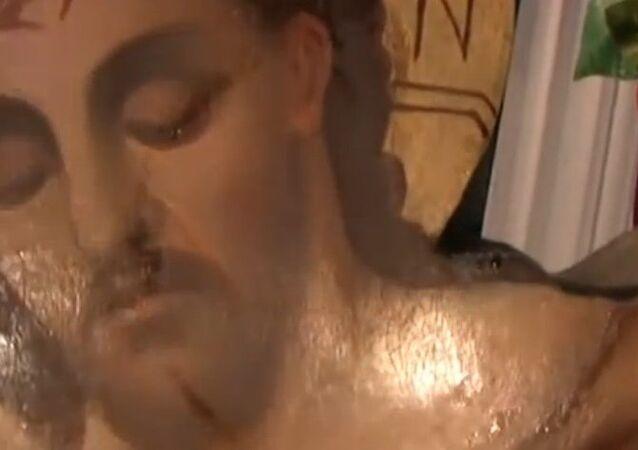 Ağladığı iddia edilen Hz İsa ikonası